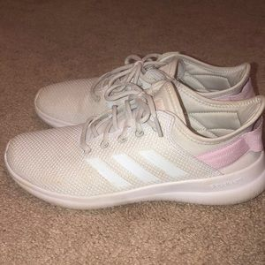 Adidas white cloudfoam tennis shoes